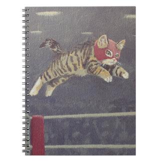 Luchador Kitty Spiral Notebook