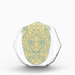 """Luchador Lucha Libre Mask Award<br><div class=""""desc"""">Illustration of a mexican Luchador  Lucha Libre wrestler Mask Front View done in line Drawing style on isolated background.</div>"""