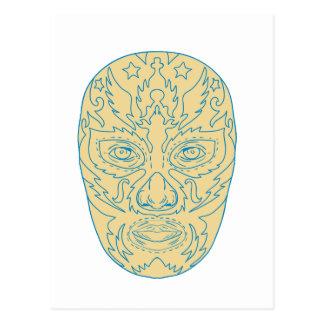 Luchador Lucha Libre Mask Postcard