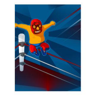 luchador postcard