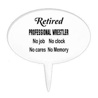 Luchador profesional jubilado ningún trabajo decoraciones para tartas