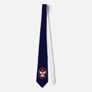 Luchadore Orange and Blue Neck Tie