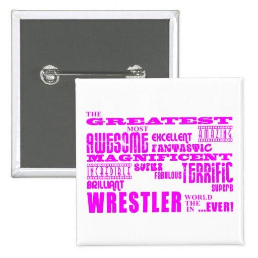 Luchadores de los chicas: Luchador más grande rosa Pins