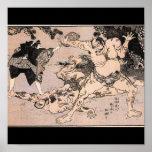Luchadores del sumo, circa 1800's. Japón Posters