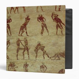 """Luchadores, detalle de una pintura de pared de la carpeta 1 1/2"""""""