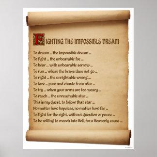 Luchar el sueño imposible #1 póster