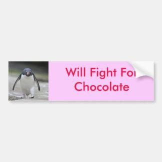 Luchará para el chocolate pegatina para auto