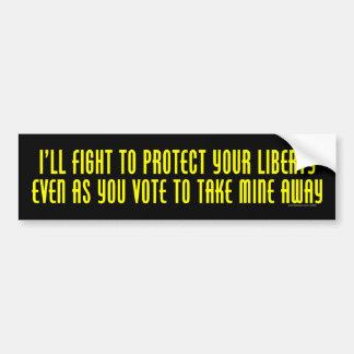 Lucharé para proteger a su pegatina para el parach pegatina de parachoque