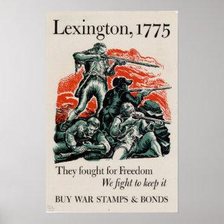 Lucharon para la libertad, nosotros luchan para gu póster