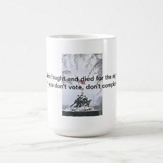 Lucharon para la su derecha taza de café