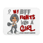 Luchas de BFF como el cáncer de cerebro del chica  Imán De Vinilo