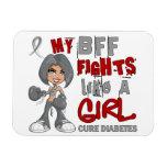 Luchas de BFF como la diabetes del chica 42,9 Imanes De Vinilo
