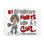 Luchas de la abuela como la diabetes del chica 42, imanes rectangulares