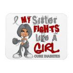 Luchas de la hermana como la diabetes del chica 42 imanes rectangulares