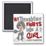 Luchas de la hija como la diabetes del chica 42,9 imanes