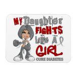 Luchas de la hija como la diabetes del chica 42,9 imán