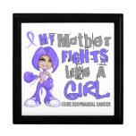 Luchas de la madre como cáncer del esófago del chi cajas de joyas