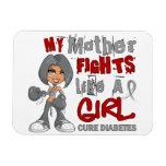 Luchas de la madre como la diabetes del chica 42,9 imán flexible
