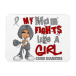 Luchas de la mamá como la diabetes del chica 42,9 imán de vinilo