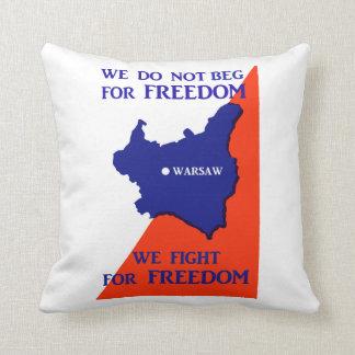 Luchas de WWII Polonia para la libertad Cojines
