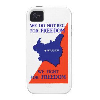 Luchas de WWII Polonia para la libertad iPhone 4 Fundas