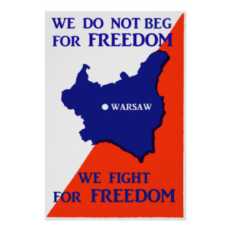 Luchas de WWII Polonia para la libertad Poster