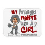 Luchas del amigo como la diabetes del chica 42,9 imán de vinilo