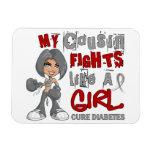 Luchas del primo como la diabetes del chica 42,9 imanes rectangulares