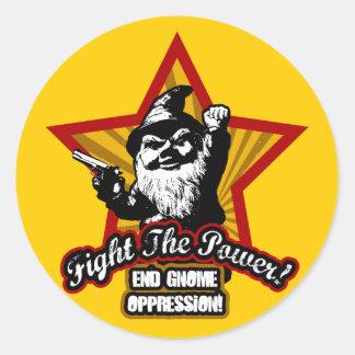 Luche a los pegatinas del poder etiquetas redondas