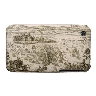 Luche cerca de la ciudad de Levice en 1664, illust iPhone 3 Fundas