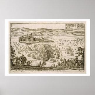 Luche cerca de la ciudad de Levice en 1664, illust Impresiones