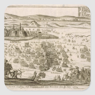 Luche cerca de la ciudad de Levice en 1664, Pegatina Cuadrada