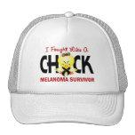 Luché como un superviviente del melanoma del pollu gorras