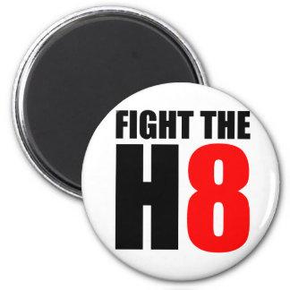 Luche el H8 - opóngase al asunto 8 Imán Redondo 5 Cm