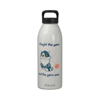 Luché el hilado botella de agua reutilizable