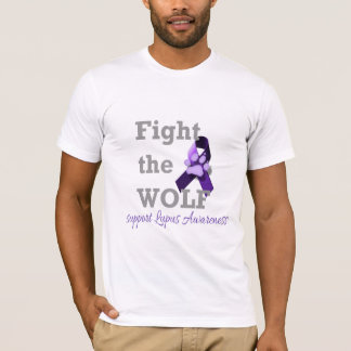 ¡Luche el lobo! Apoye la conciencia del lupus Playera