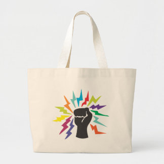 Luche el poder bolsas lienzo