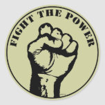 Luche el poder pegatinas