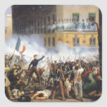 Luche en la ruda de Rohan, el 28 de julio de 1830, Pegatina Cuadrada