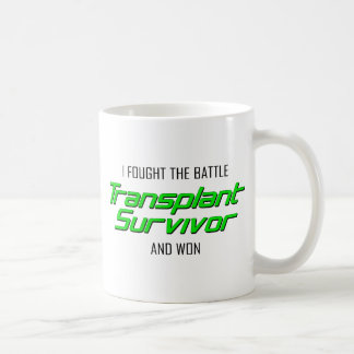 Luché la batalla y gané.  Superviviente del Taza Básica Blanca