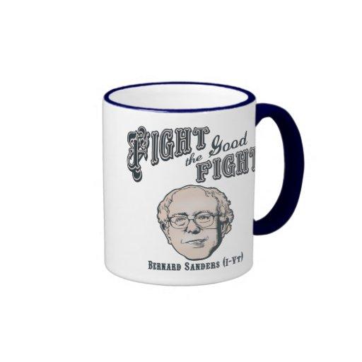 Luche la buena lucha taza de café