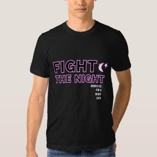 Luche la camiseta negra de los hombres de noche polera