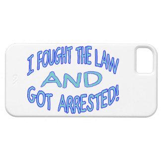 Luché la ley y conseguí arrestado funda para iPhone 5 barely there