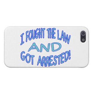 Luché la ley y conseguí arrestado iPhone 5 carcasas