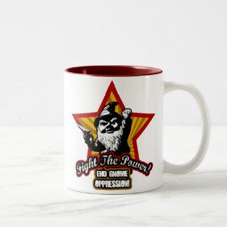 Luche la taza de café del poder