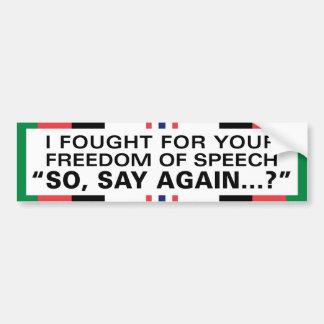 Luché para su libertad de expresión - Afganistán Pegatina Para Auto