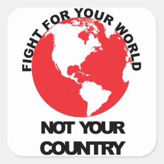 Luche para su mundo a no su pegatina del país
