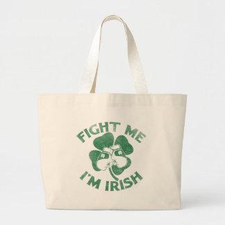 Lúcheme que soy irlandés bolsa tela grande