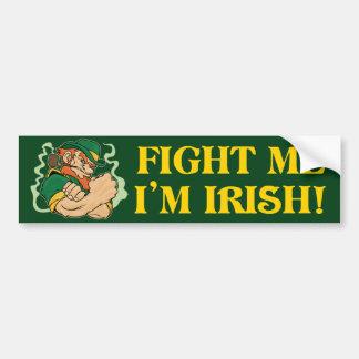 Lúcheme que soy irlandés pegatina para auto