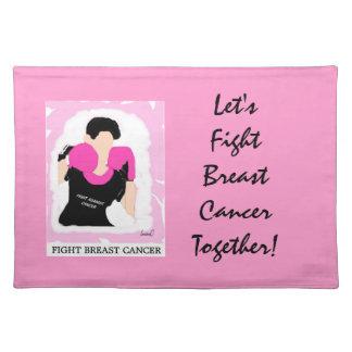 ¡Luchemos al cáncer de pecho junto Placemat 2 Manteles Individuales